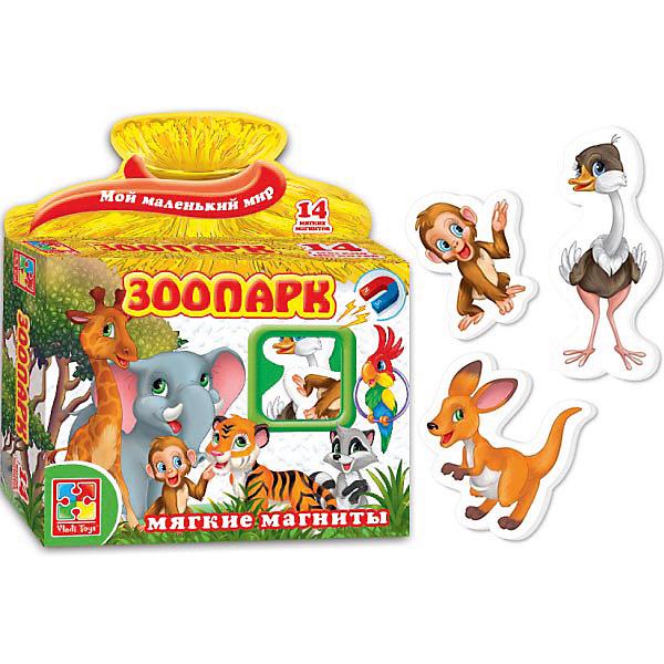 Игра на магнитах Зоопарк, Vladi ToysОкружающий мир<br><br><br>Ширина мм: 165<br>Глубина мм: 190<br>Высота мм: 45<br>Вес г: 98<br>Возраст от месяцев: 24<br>Возраст до месяцев: 60<br>Пол: Унисекс<br>Возраст: Детский<br>SKU: 4954088