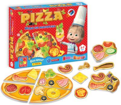 Игра на магнитах Пицца , Маша и Медведь, Vladi Toys