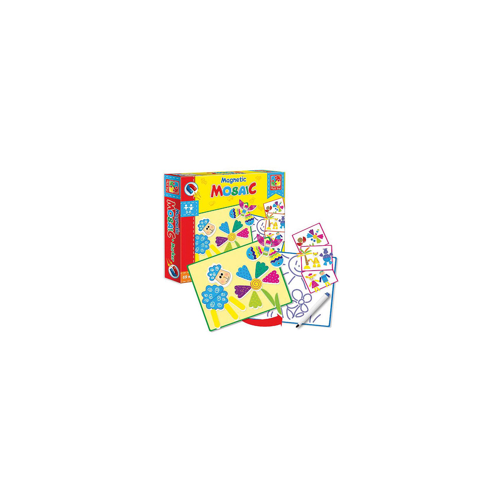 Vladi Toys Магнитная мозаика  Овечка, 69 деталей, Vladi Toys мозаика vladi toys мозаика магнитная львенок и жираф 67 деталей