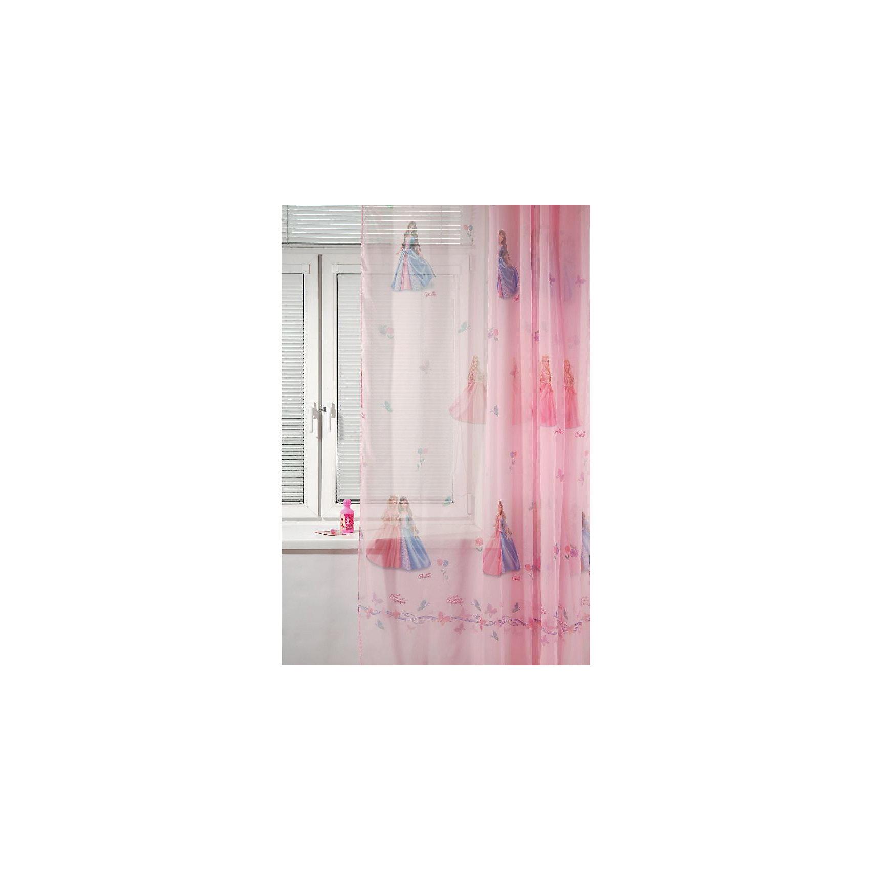 TAC Тюль БАРБИ.ПРИНЦЕССА И НИЩЕНКА 300см х 265см, TAC, розовый tac портьера детская 200см х 265см персиковый