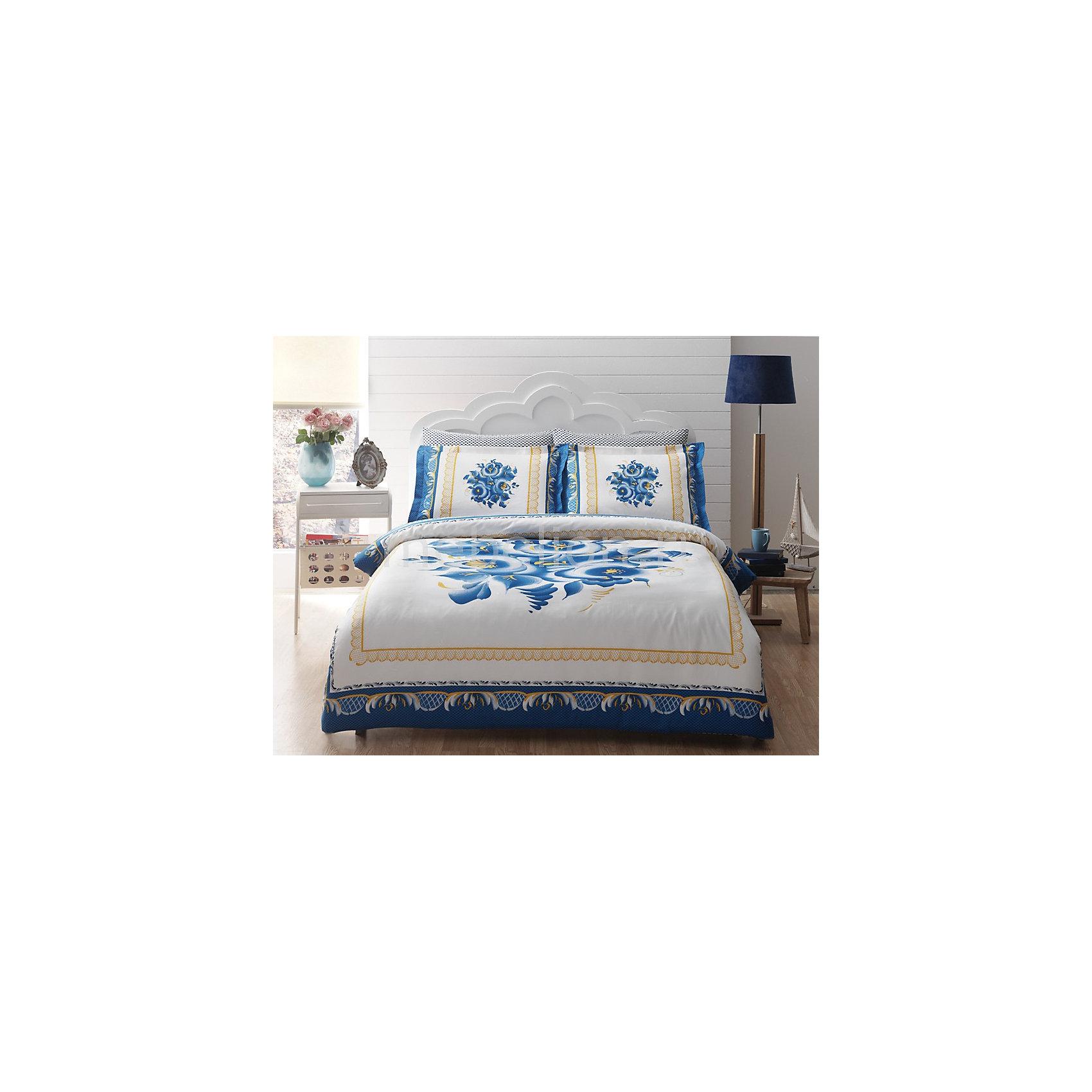 Постельное белье 2 сп. OCHAROVANIE DELUX сатин, TAC, голубой