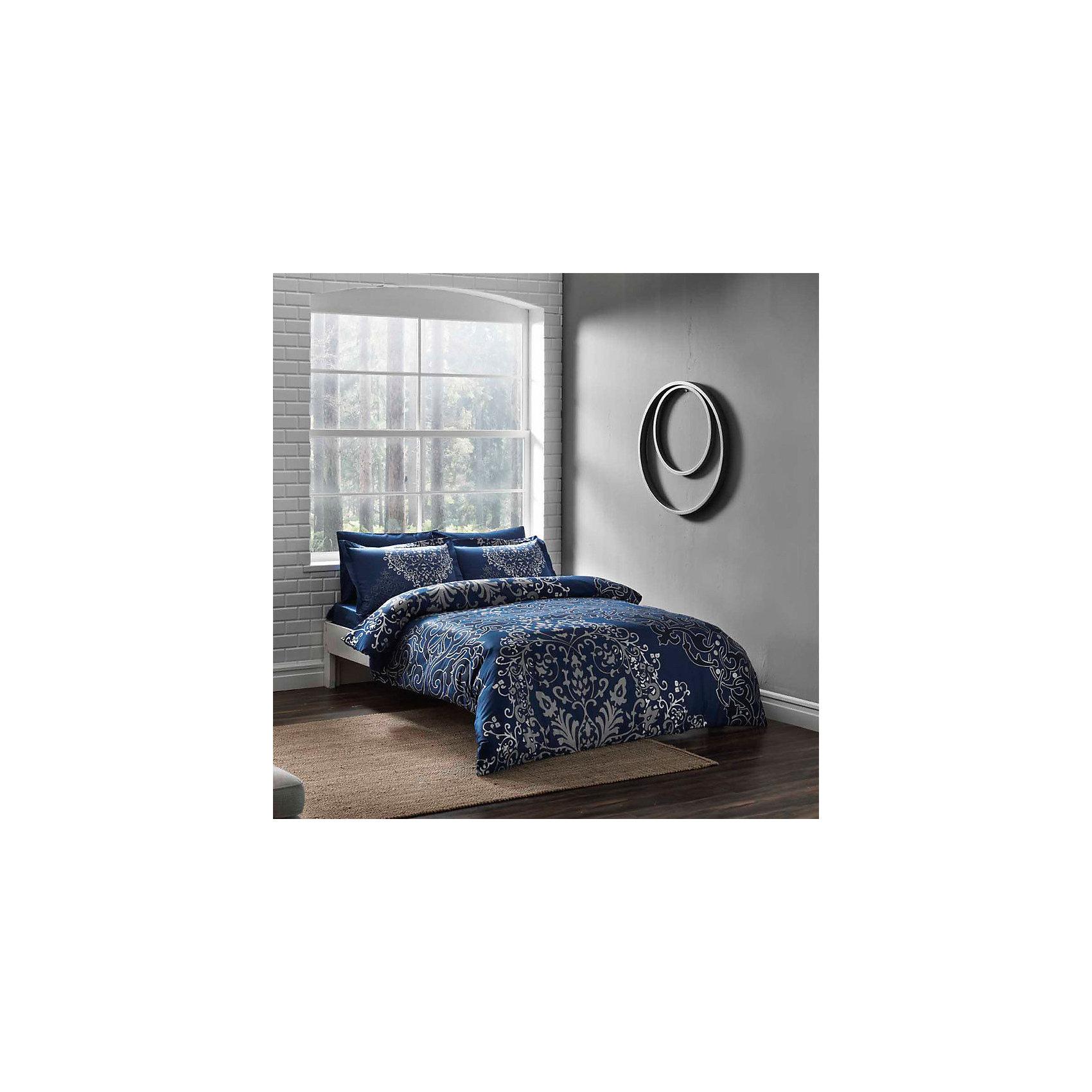 TAC Постельное белье 1,5 Fabia, сатин, TAC, синий постельное белье tac в спб
