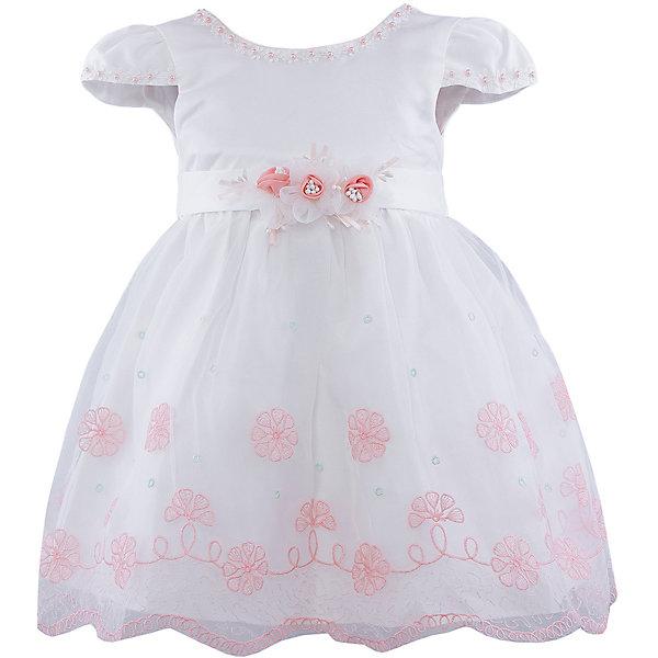Нарядное платье для девочки VitacciОдежда<br>Платье для девочки от известного бренда Vitacci.<br>Очаровательное платье для маленькой принцессы. Модель отрезная по линии талии,с застёжкой молнией на спинке.<br>Состав:<br>100% полиэстер<br>Ширина мм: 236; Глубина мм: 16; Высота мм: 184; Вес г: 177; Цвет: белый/коралловый; Возраст от месяцев: 72; Возраст до месяцев: 84; Пол: Женский; Возраст: Детский; Размер: 120,80,110,100,90; SKU: 4956073;