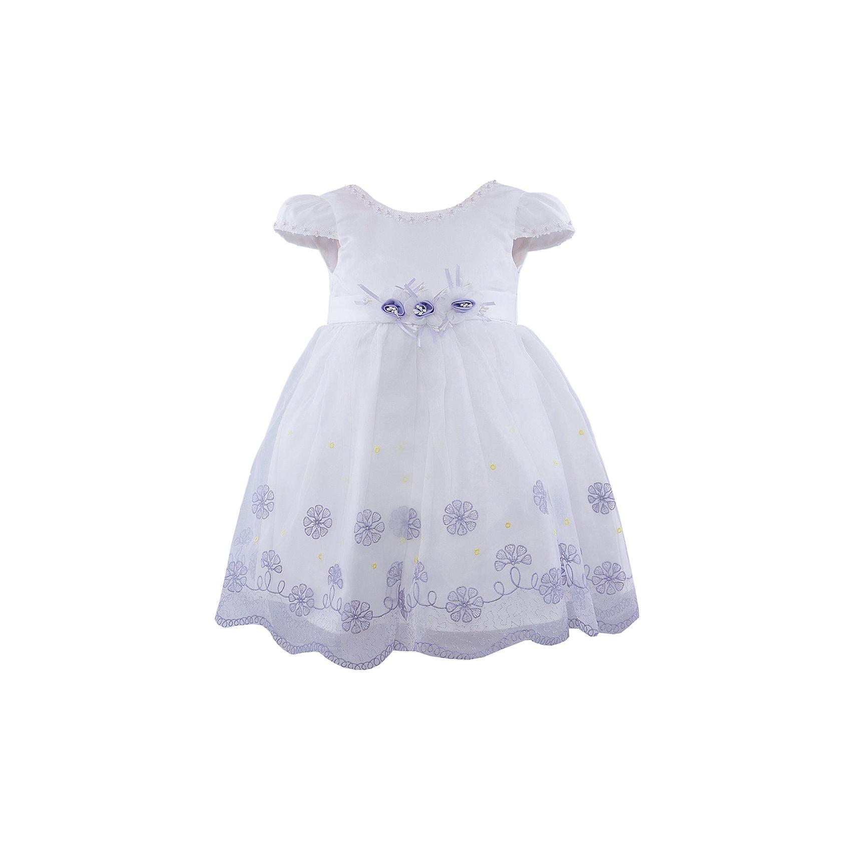 Нарядное платье для девочки VitacciОдежда<br>Платье для девочки от известного бренда Vitacci.<br>Очаровательное платье для маленькой принцессы. Модель отрезная по линии талии,с застёжкой молнией на спинке.<br>Состав:<br>100% полиэстер<br><br>Ширина мм: 236<br>Глубина мм: 16<br>Высота мм: 184<br>Вес г: 177<br>Цвет: белый/голубой<br>Возраст от месяцев: 72<br>Возраст до месяцев: 84<br>Пол: Женский<br>Возраст: Детский<br>Размер: 120,80,90,100,110<br>SKU: 4956079
