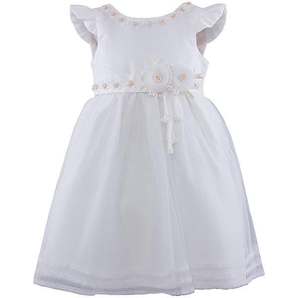Нарядное платье для девочки VitacciПлатья и сарафаны<br>Платье для девочки от известного бренда Vitacci.<br>Очаровательное платье для маленькой принцессы. Модель отрезная по линии талии,с застёжкой молнией на спинке.<br>Состав:<br>100% полиэстер<br><br>Ширина мм: 236<br>Глубина мм: 16<br>Высота мм: 184<br>Вес г: 177<br>Цвет: белый/золотой<br>Возраст от месяцев: 72<br>Возраст до месяцев: 84<br>Пол: Женский<br>Возраст: Детский<br>Размер: 120,80,90,100,110<br>SKU: 4956085