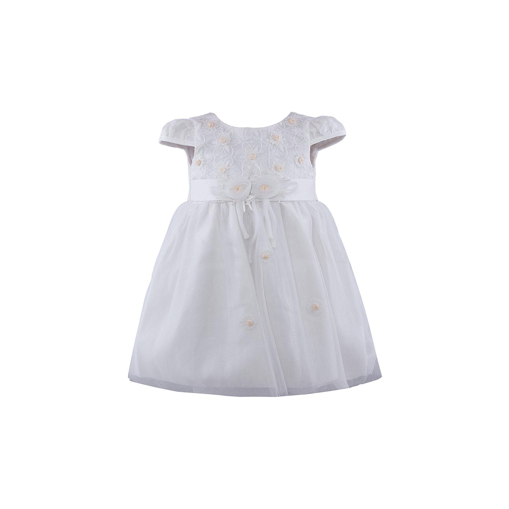Нарядное платье для девочки VitacciОдежда<br>Платье для девочки от известного бренда Vitacci.<br>Очаровательное платье для маленькой принцессы. Модель отрезная по линии талии,с застёжкой молнией на спинке.<br>Состав:<br>100% полиэстер<br><br>Ширина мм: 236<br>Глубина мм: 16<br>Высота мм: 184<br>Вес г: 177<br>Цвет: бело-желтый<br>Возраст от месяцев: 72<br>Возраст до месяцев: 84<br>Пол: Женский<br>Возраст: Детский<br>Размер: 120,80,90,100,110<br>SKU: 4956097
