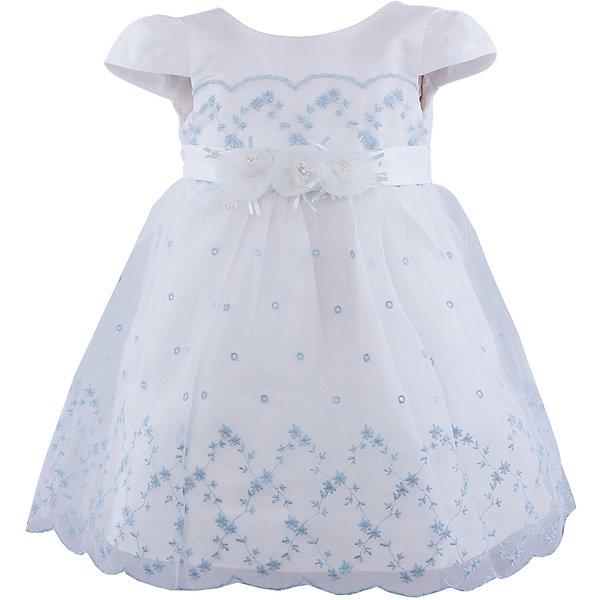 Нарядное платье для девочки VitacciОдежда<br>Платье для девочки от известного бренда Vitacci.<br>Очаровательное платье для маленькой принцессы. Модель отрезная по линии талии,с застёжкой молнией на спинке.<br>Состав:<br>100% полиэстер<br>Ширина мм: 236; Глубина мм: 16; Высота мм: 184; Вес г: 177; Цвет: синий/белый; Возраст от месяцев: 18; Возраст до месяцев: 24; Пол: Женский; Возраст: Детский; Размер: 90,100,80,120,110; SKU: 4956103;
