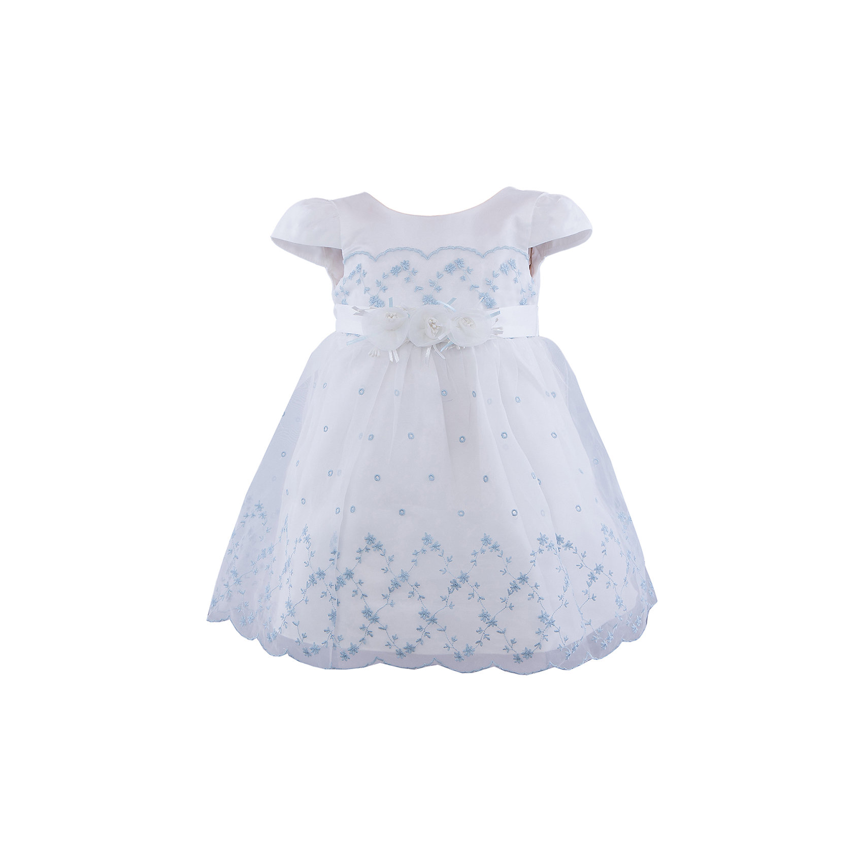 Нарядное платье для девочки VitacciОдежда<br>Платье для девочки от известного бренда Vitacci.<br>Очаровательное платье для маленькой принцессы. Модель отрезная по линии талии,с застёжкой молнией на спинке.<br>Состав:<br>100% полиэстер<br><br>Ширина мм: 236<br>Глубина мм: 16<br>Высота мм: 184<br>Вес г: 177<br>Цвет: белый светло-голубой<br>Возраст от месяцев: 72<br>Возраст до месяцев: 84<br>Пол: Женский<br>Возраст: Детский<br>Размер: 120,80,90,100,110<br>SKU: 4956103