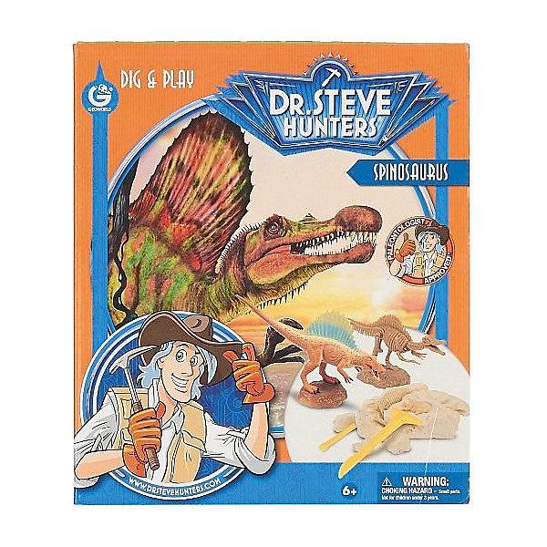 Набор для проведения раскопок + фигурка СпинозаврНаборы для раскопок<br>Набор для проведения раскопок с фигуркой Спинозавр - занимательный набор для детей от 6 лет. С его помощью ребенок сможет самостоятельно заняться настоящими археологическими раскопками, найти части скелета тираннозавра и узнать много нового и интересного о мире динозавров. Все детали уникальны и не имеют аналогов. Такой набор станет прекрасным подарком для юных исследователей!<br><br>Дополнительная информация:<br>В комплекте: гипсовый брусок с деталями скелета внутри, фигурка спинозавра, палеонтологические инструменты(щеточка, долото, молоточек), инструкция, информационный буклет<br>Материал: гипс, пластик<br>Размер: 6,5х27х23 см<br>Вес: 514 грамм<br>Набор для проведения раскопок с фигуркой Спинозавр вы можете приобрести в нашем интернет-магазине.<br>Ширина мм: 230; Глубина мм: 270; Высота мм: 65; Вес г: 514; Возраст от месяцев: 72; Возраст до месяцев: 144; Пол: Унисекс; Возраст: Детский; SKU: 4956855;
