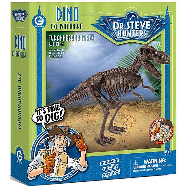 Набор для проведения раскопок ТираннозаврНаборы для раскопок<br>С помощью набора для проведения раскопок Тираннозавр  ребенок сможет самостоятельно раскопать, а затем собрать скелет тираннозавра. В наборе есть буклет с интересной информацией о древнейших жителях нашей планеты. Все детали уникальны и не имеют аналогов. Познакомьте ребенка с увлекательнейшим доисторическим миром!<br><br>Дополнительная информация:<br>В наборе: гипсовый брусок с деталями скелета, инструменты(молоточек, долото, щеточка), инструкция<br>Материал: гипс, пластик<br>Размер: 4,5х19х22 см<br>Вес: 475 грамм<br>Набор для проведения раскопок Тираннозавр можно приобрести в нашем интернет-магазине.<br><br>Ширина мм: 220<br>Глубина мм: 190<br>Высота мм: 45<br>Вес г: 475<br>Возраст от месяцев: 72<br>Возраст до месяцев: 144<br>Пол: Унисекс<br>Возраст: Детский<br>SKU: 4956858
