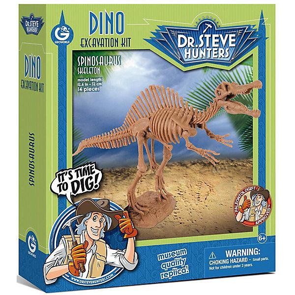 Набор для проведения раскопок СпинозаврНаборы для раскопок<br>С помощью набора для проведения раскопок Спинозавр  ребенок сможет самостоятельно раскопать, а затем собрать скелет спинозавра. В наборе есть буклет с интересной информацией о древнейших жителях нашей планеты. Все детали уникальны и не имеют аналогов. Познакомьте ребенка с увлекательнейшим доисторическим миром!<br><br>Дополнительная информация:<br>В наборе: гипсовый брусок с деталями скелета, инструменты(молоточек, долото, щеточка), инструкция<br>Материал: гипс, пластик<br>Размер: 4,5х19х22 см<br>Вес: 400 грамм<br>Набор для проведения раскопок Спинозавр можно приобрести в нашем интернет-магазине.<br><br>Ширина мм: 220<br>Глубина мм: 190<br>Высота мм: 45<br>Вес г: 400<br>Возраст от месяцев: 72<br>Возраст до месяцев: 144<br>Пол: Унисекс<br>Возраст: Детский<br>SKU: 4956861