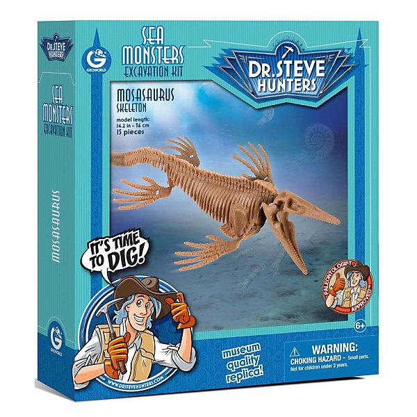 Набор для проведения раскопок МозазаврНаборы для раскопок<br>С помощью набора для проведения раскопок Мозазавр  ребенок сможет самостоятельно раскопать, а затем собрать скелет мозазавра. В наборе есть буклет с интересной информацией о древнейших жителях нашей планеты. Все детали уникальны и не имеют аналогов. Познакомьте ребенка с увлекательнейшим доисторическим миром!<br><br>Дополнительная информация:<br>В наборе: гипсовый брусок с деталями скелета, инструменты(молоточек, долото, щеточка), инструкция<br>Материал: гипс, пластик<br>Размер: 4,5х19х22 см<br>Вес: 475 грамм<br>Набор для проведения раскопок Мозазавр можно приобрести в нашем интернет-магазине.<br><br>Ширина мм: 190<br>Глубина мм: 220<br>Высота мм: 45<br>Вес г: 388<br>Возраст от месяцев: 72<br>Возраст до месяцев: 144<br>Пол: Унисекс<br>Возраст: Детский<br>SKU: 4956866