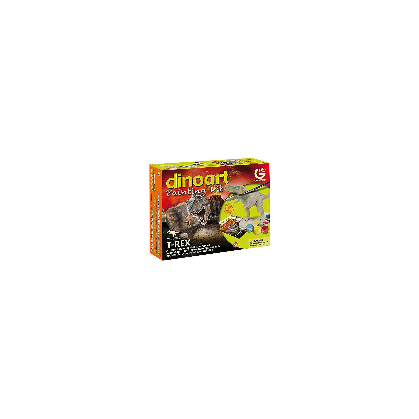 Geoworld Набор для творчества Тираннозавр Рекс конструкторы geoworld набор зубы акулы серия dr steve hunters