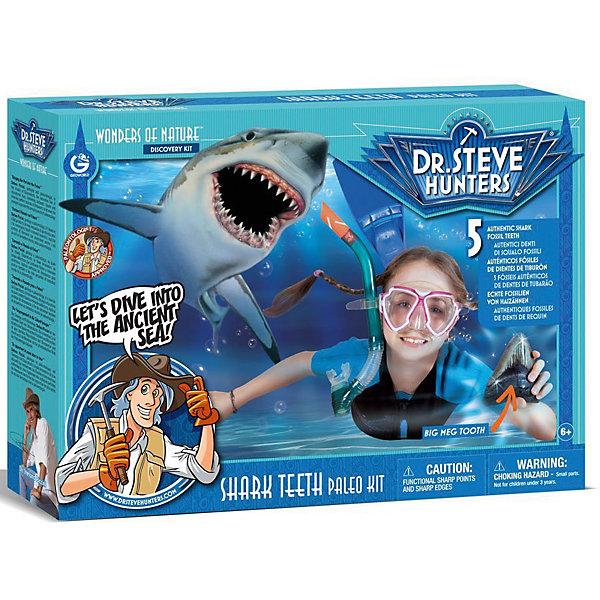 Набор для проведения раскопок Зубы акулыНаборы для раскопок<br>С помощью набора Зубы акулы ребенок сможет сам раскопать пять настоящих зубов акулы и узнать много интересного о древнейшем мире морских обитателей. Копия зуба Мегалодона выполнена в масштабе 1:1, музейного качества. Подарите ребенку увлекательный мир древних животных!<br><br>Дополнительная информация:<br>В наборе: 5 настоящих зубов акулы, копия зуба древней акулы Мегалодон, дисплей для ископаемых, подставка для копии зуба, кисточка, лупа, этикетки, песок, пластиковая чаша, инструкция, информационный буклет<br>Материал: песок, пластик<br>Размер: 8х27х38 см<br>Вес: 992 грамма<br>Набор для проведения раскопок Зубы акулы можно приобрести в нашем интернет-магазине.<br><br>Ширина мм: 380<br>Глубина мм: 270<br>Высота мм: 80<br>Вес г: 992<br>Возраст от месяцев: 72<br>Возраст до месяцев: 144<br>Пол: Унисекс<br>Возраст: Детский<br>SKU: 4956881