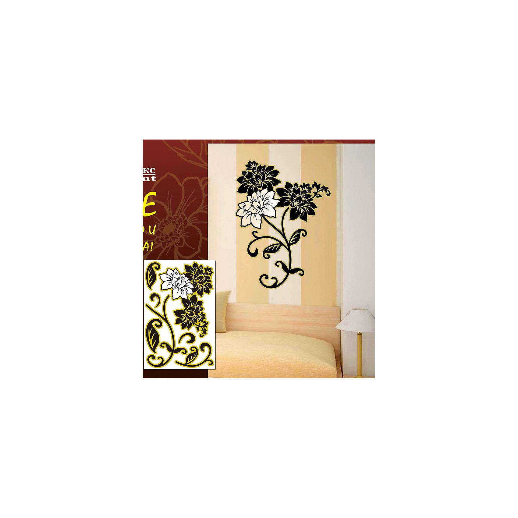 Декораттивная наклейка на стену Цветы (33,5*52 см)Предметы интерьера<br>С помощью декоративной наклейки на стену Цветы вы сможете украсить интерьер комнаты по своему усмотрению. Рисунок-орнамент в виде цветов на прозрачной пленке легко наносится на стену и позволит вам создать свой собственный оригинальный дизайн!<br><br>Дополнительная информация:<br>Материал: пленка ПВХ<br>Размер упаковки: 40х54х0,5 см<br>Размер украшения: 33,5х52 см<br>Вес: 165 грамм<br>Декоративную наклейку на стену Цветы вы можете приобрести в нашем интернет-магазине.<br><br>Ширина мм: 300<br>Глубина мм: 560<br>Высота мм: 390<br>Вес г: 160<br>Возраст от месяцев: 84<br>Возраст до месяцев: 216<br>Пол: Унисекс<br>Возраст: Детский<br>SKU: 4957934