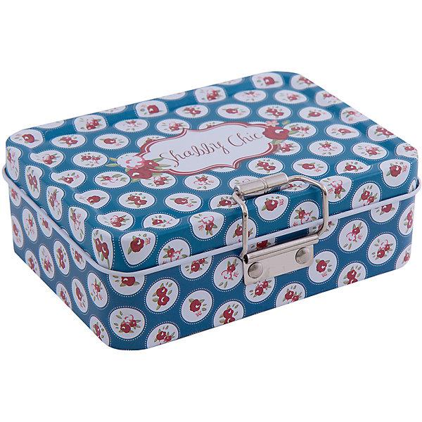 Коробка для безделушек и мелочей Шебби шик синяя (12.5*9*4см)Детские предметы интерьера<br>Коробка для безделушек и мелочей Шебби шик синяя изготовлена из металла, закрывается крышкой и застежкой, есть съемное отделение. Коробка украшена симпатичным рисунком, достаточно вместительная и отлично подойдет для хранения небольших вещей. Такая коробка приятно дополнит интерьер комнаты или станет восхитительным подарком близкому человеку.<br><br>Дополнительная информация:<br>Дополнительное съемное отделение<br>Материал:  металл<br>Размер: 12,5х9х4 см<br>Коробку для безделушек и мелочей Шебби шик синяя вы можете купить в нашем интернет-магазине.<br><br>Ширина мм: 310<br>Глубина мм: 460<br>Высота мм: 460<br>Вес г: 154<br>Возраст от месяцев: 84<br>Возраст до месяцев: 216<br>Пол: Унисекс<br>Возраст: Детский<br>SKU: 4957960