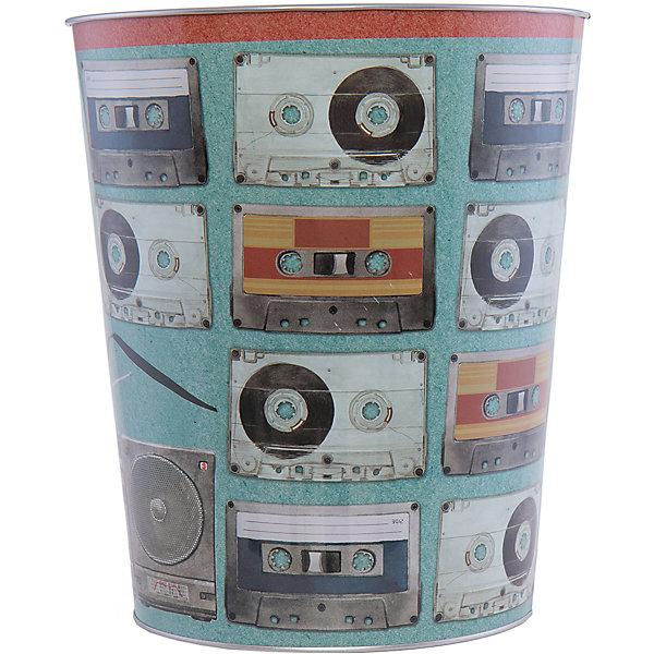 Ведро мусорное АудиокассетыМусорные ведра<br>Аудиокассеты - ведро для мусора, сделанное из металла и украшенное рисунком с аудиокассетами. Простое и практичное ведро удобно использовать как дома, так и на рабочем месте.<br><br>Дополнительная информация:<br>Материал: металл<br>Диаметр: 22,5 см<br>Высота: 26,5 см<br>Вес: 390 грамм<br>Мусорное ведро Аудиокассеты можно приобрести в нашем интернет-магазине.<br>Ширина мм: 690; Глубина мм: 250; Высота мм: 240; Вес г: 411; Возраст от месяцев: 84; Возраст до месяцев: 216; Пол: Унисекс; Возраст: Детский; SKU: 4957978;