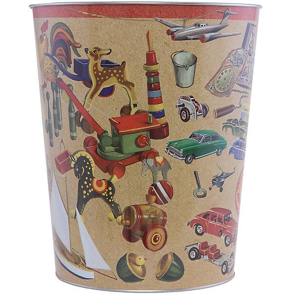 Ведро мусорное ИгрушкиМусорные ведра<br>Игрушки - ведро для мусора, сделанное из металла и украшенное рисунком с советскими игрушками. Простое и практичное ведро удобно использовать как дома, так и на рабочем месте.<br><br>Дополнительная информация:<br>Материал: металл<br>Диаметр: 22,5 см<br>Высота: 26,5 см<br>Вес: 370 грамм<br>Мусорное ведро Игрушки можно приобрести в нашем интернет-магазине.<br>Ширина мм: 690; Глубина мм: 250; Высота мм: 240; Вес г: 414; Возраст от месяцев: 84; Возраст до месяцев: 216; Пол: Унисекс; Возраст: Детский; SKU: 4957979;