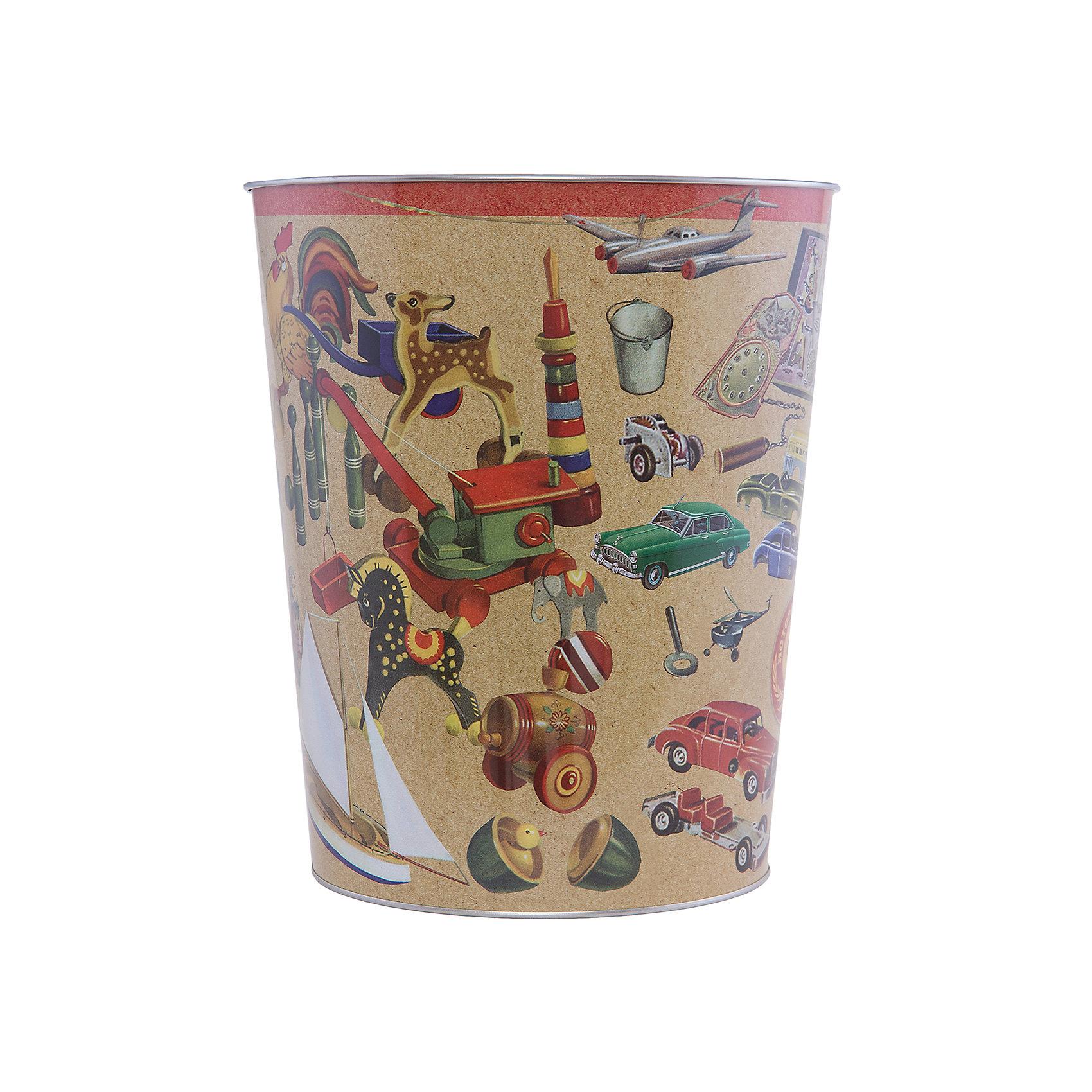 Ведро мусорное ИгрушкиПорядок в детской<br>Игрушки - ведро для мусора, сделанное из металла и украшенное рисунком с советскими игрушками. Простое и практичное ведро удобно использовать как дома, так и на рабочем месте.<br><br>Дополнительная информация:<br>Материал: металл<br>Диаметр: 22,5 см<br>Высота: 26,5 см<br>Вес: 370 грамм<br>Мусорное ведро Игрушки можно приобрести в нашем интернет-магазине.<br><br>Ширина мм: 690<br>Глубина мм: 250<br>Высота мм: 240<br>Вес г: 414<br>Возраст от месяцев: 84<br>Возраст до месяцев: 216<br>Пол: Унисекс<br>Возраст: Детский<br>SKU: 4957979