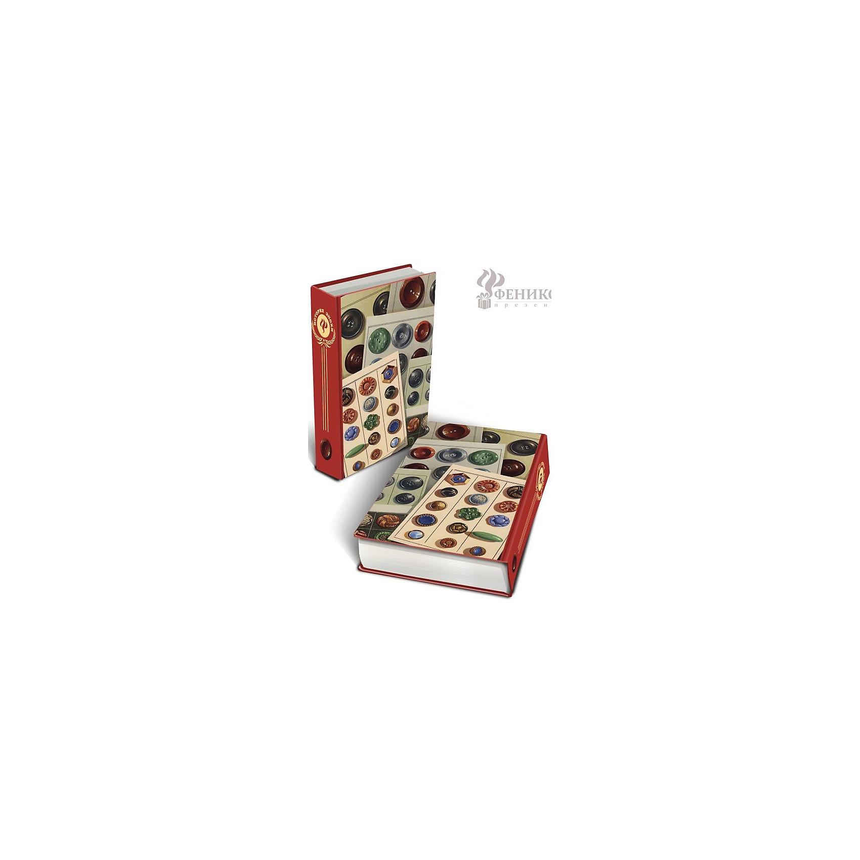 Шкатулка декоративная ПуговицыДекоративная шкатулка Пуговицы изготовлена из дерева в форме книги. Она декорирована интересным рисунком с набором пуговиц. В такой шкатулке приятно будет приятно хранить вещи, украшения и мелкие безделушки.<br><br>Дополнительная информация:<br>Материал: МДФ<br>Размер: 17х11х5 см<br>Вес: 380 грамм<br>Вы можете купить декоративную шкатулку Пуговицы в нашем интернет-магазине.<br><br>Ширина мм: 390<br>Глубина мм: 370<br>Высота мм: 380<br>Вес г: 307<br>Возраст от месяцев: 84<br>Возраст до месяцев: 216<br>Пол: Унисекс<br>Возраст: Детский<br>SKU: 4957983