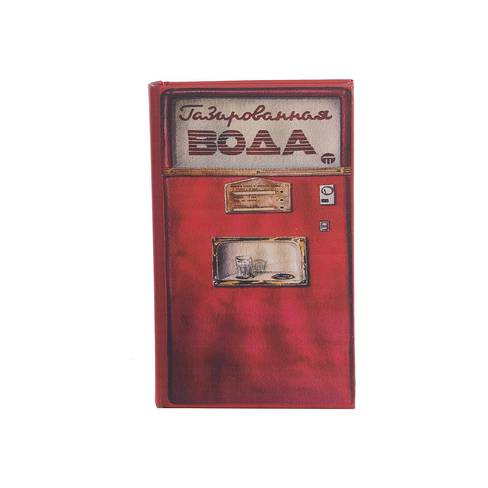 Шкатулка декоративная Газированная водаДекоративная шкатулка Газированная вода изготовлена из дерева в форме книги. Она декорирована интересным рисунком в виде советского автомата с газированной водой. В такой шкатулке приятно будет приятно хранить вещи, украшения и мелкие безделушки.<br><br>Дополнительная информация:<br>Материал: МДФ<br>Размер: 5х18х11 см<br>Вес: 370 грамм<br>Вы можете купить декоративную шкатулку Газированная вода в нашем интернет-магазине.<br><br>Ширина мм: 390<br>Глубина мм: 370<br>Высота мм: 380<br>Вес г: 307<br>Возраст от месяцев: 84<br>Возраст до месяцев: 216<br>Пол: Унисекс<br>Возраст: Детский<br>SKU: 4957985