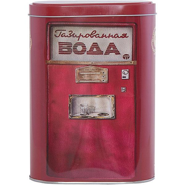 Емкость для сыпучих продуктов Газированная вода 1700млКухонная утварь<br>Емкость для сыпучих продуктов Газированная вода сделана из металла и декорирована рисунком в виде советского автомата с газированной водой, удобно и плотно закрывается крышкой. Можно использовать для сахара, круп, муки и прочих сыпучих продуктов. Такая емкость прекрасно подойдет для вашей кухни!<br><br>Дополнительная информация: <br>Материал: черный окрашенный металл<br>Размер: 13,5х7,5х19,2 см<br>Объем: 1700 мл<br>Вы можете приобрести емкость для сыпучих продуктов Газированная вода в нашем интернет-магазине.<br><br>Ширина мм: 410<br>Глубина мм: 480<br>Высота мм: 430<br>Вес г: 171<br>Возраст от месяцев: 84<br>Возраст до месяцев: 216<br>Пол: Унисекс<br>Возраст: Детский<br>SKU: 4957990
