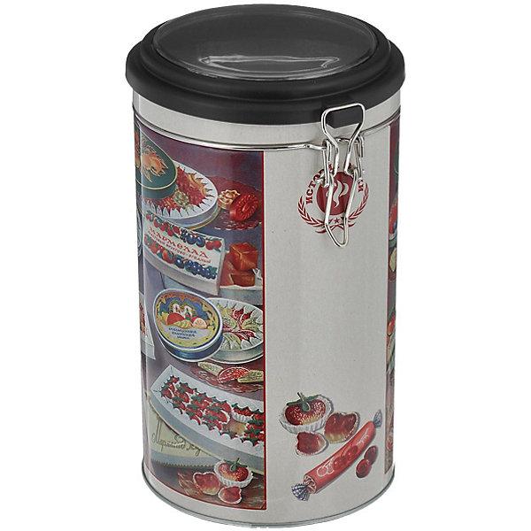 Емкость для сыпучих продуктов Мармелад 1800млКухонная утварь<br>Емкость для сыпучих продуктов Мармелад сделана из металла и декорирована рисунком с изображением мармелада, удобно и плотно закрывается крышкой. Можно использовать для сахара, круп, муки и прочих сыпучих продуктов. Такая емкость прекрасно подойдет для вашей кухни!<br><br>Дополнительная информация: <br>Материал: черный окрашенный металл, пластик<br>Размер: 11х11х19,5 см<br>Объем: 1800 мл<br>Вы можете приобрести емкость для сыпучих продуктов Мармелад в нашем интернет-магазине.<br><br>Ширина мм: 360<br>Глубина мм: 690<br>Высота мм: 420<br>Вес г: 187<br>Возраст от месяцев: 84<br>Возраст до месяцев: 216<br>Пол: Унисекс<br>Возраст: Детский<br>SKU: 4957991