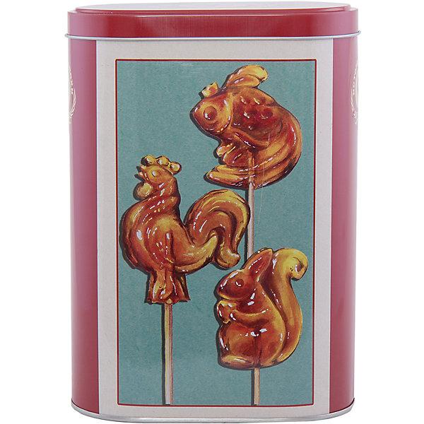 Емкость для сыпучих продуктов Петушки 1700млКухонная утварь<br>Емкость для сыпучих продуктов Петушки сделана из металла и декорирована рисунком в виде леденцов-петушков, удобно и плотно закрывается крышкой. Можно использовать для сахара, круп, муки и прочих сыпучих продуктов. Такая емкость прекрасно подойдет для вашей кухни!<br><br>Дополнительная информация: <br>Материал: черный окрашенный металл<br>Размер: 13,5х7,5х19,2 см<br>Объем: 1700 мл<br>Вы можете приобрести емкость для сыпучих продуктов Петушки в нашем интернет-магазине.<br><br>Ширина мм: 410<br>Глубина мм: 480<br>Высота мм: 430<br>Вес г: 169<br>Возраст от месяцев: 84<br>Возраст до месяцев: 216<br>Пол: Унисекс<br>Возраст: Детский<br>SKU: 4957992