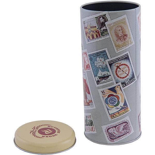 Емкость для сыпучих продуктов Почтовые марки 800млКухонная утварь<br>Емкость для сыпучих продуктов Почтовые марки изготовлена из металла и украшена рисунком с изображением различных марок. Удобно закрывается крышкой во избежание появления неприятных запахов. В такой емкости удобно хранить чай, крупы, сахар и другие сыпучие предметы. Прекрасно впишется в интерьер кухни!<br><br>Дополнительная информация:<br>Материал: металл<br>Объем: 800 мл<br>Размер: 7,8х7,8х17,8 см<br>Вес: 90 грамм<br><br>Емкость для сыпучих продуктов Почтовые марки можно купить в нашем интернет-магазине.<br><br>Ширина мм: 560<br>Глубина мм: 340<br>Высота мм: 480<br>Вес г: 101<br>Возраст от месяцев: 84<br>Возраст до месяцев: 216<br>Пол: Унисекс<br>Возраст: Детский<br>SKU: 4957994