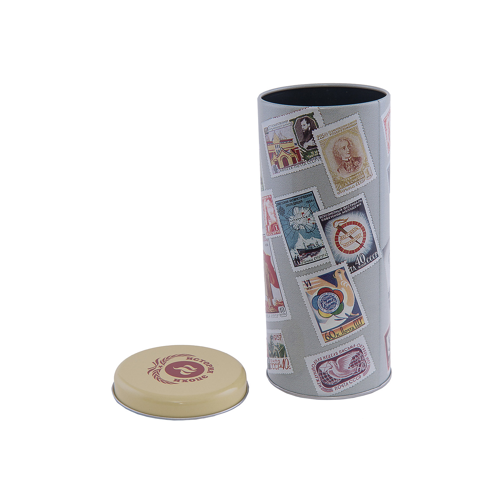 Феникс-Презент Емкость для сыпучих продуктов Почтовые марки 800мл емкости неполимерные konono банка для сыпучих продуктов 800мл