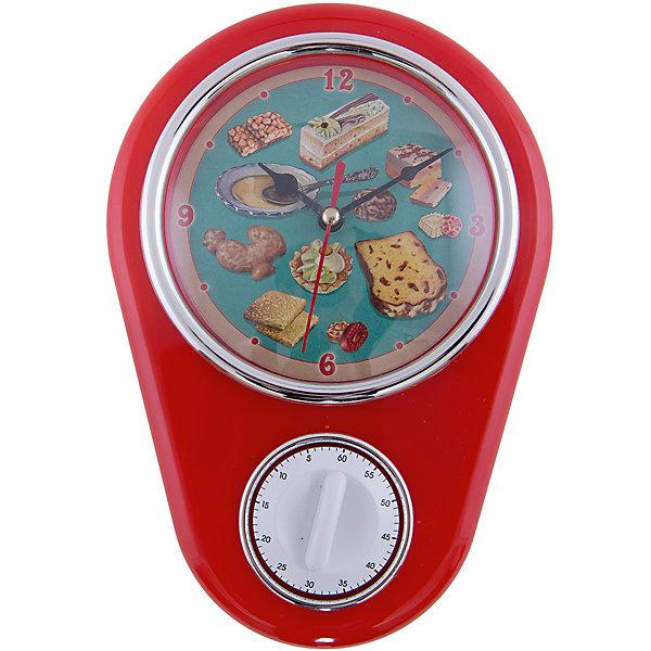 Кухонные настенные часы Ретро-вкусности с таймеромДетские предметы интерьера<br>Кухонные настенные часы Ретро-вкусности станут лучшим помощником любой хозяйки! Циферблат декорирован рисунком со сладостями в ретро-стиле. Часы оснащены таймером на 60 минут, что будет удобно при приготовления блюд. Часы вешаются на сену и работают от одной батарейки тип АА(в комплект не входит).<br>Такие часы будут прекрасным украшением для вашей кухни!<br><br>Дополнительная информация:<br>Материал: пластик<br>Тип батареи: АА<br>Тип часов: кварцевые<br>Размер: 24 x 17 x 7 см<br>Вес: 340 грамм<br>Кухонные настенные часы Ретро-вкусности можно приобрести в нашем интернет-магазине.<br><br>Ширина мм: 260<br>Глубина мм: 360<br>Высота мм: 630<br>Вес г: 345<br>Возраст от месяцев: 84<br>Возраст до месяцев: 216<br>Пол: Унисекс<br>Возраст: Детский<br>SKU: 4958003