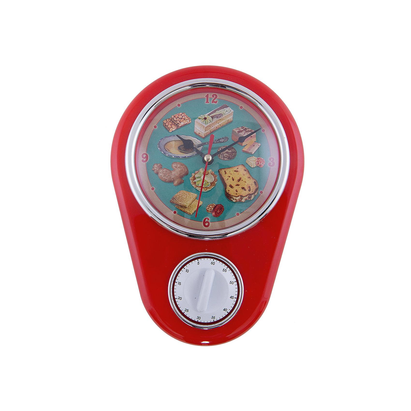 Феникс-Презент Кухонные настенные часы Ретро-вкусности с таймером
