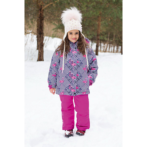 Комплект для девочки: куртка и брюки Sweet BerryВерхняя одежда<br>Комплект для девочки: куртка и брюки от известного бренда Sweet Berry<br>Яркий комплект для девочек из  мембранной, водонепроницаемой (Waterproof - 10000мм), дышащей ( water vapor transmission rate, WVTR -10000гг)  ткани, с грязеотталкивающей пропиткой.  Съемный капюшон на молнии регулируется резинкой со стоппером. Внутренняя часть низа брюк выполнена из усиленной ткани.  Рукава с дополнительной манжетой с вырезом для пальца. Отделка светоотражающим кантом. Две ветрозащитные планки. Внутри подкладка флис,  внутренний карман и снегозащитная юбка. Брюки на регулируемых лямках из эластичной резинки. Внизу штанин имеются внутренние манжеты  на прорезиненной эластичной резинке.  Утеплитель 200гр.-тело, 180гр.-рукава, полукомбинезон.<br>Состав:<br>Верх: куртка: 100%полиэстер, брюки: 100%полиэстер.  Подкладка: 100%полиэстер. Наполнитель: 100%полиэстер<br>Ширина мм: 215; Глубина мм: 88; Высота мм: 191; Вес г: 336; Цвет: розовый; Возраст от месяцев: 72; Возраст до месяцев: 84; Пол: Женский; Возраст: Детский; Размер: 122,110,116,128,134,92,98,104; SKU: 4960085;