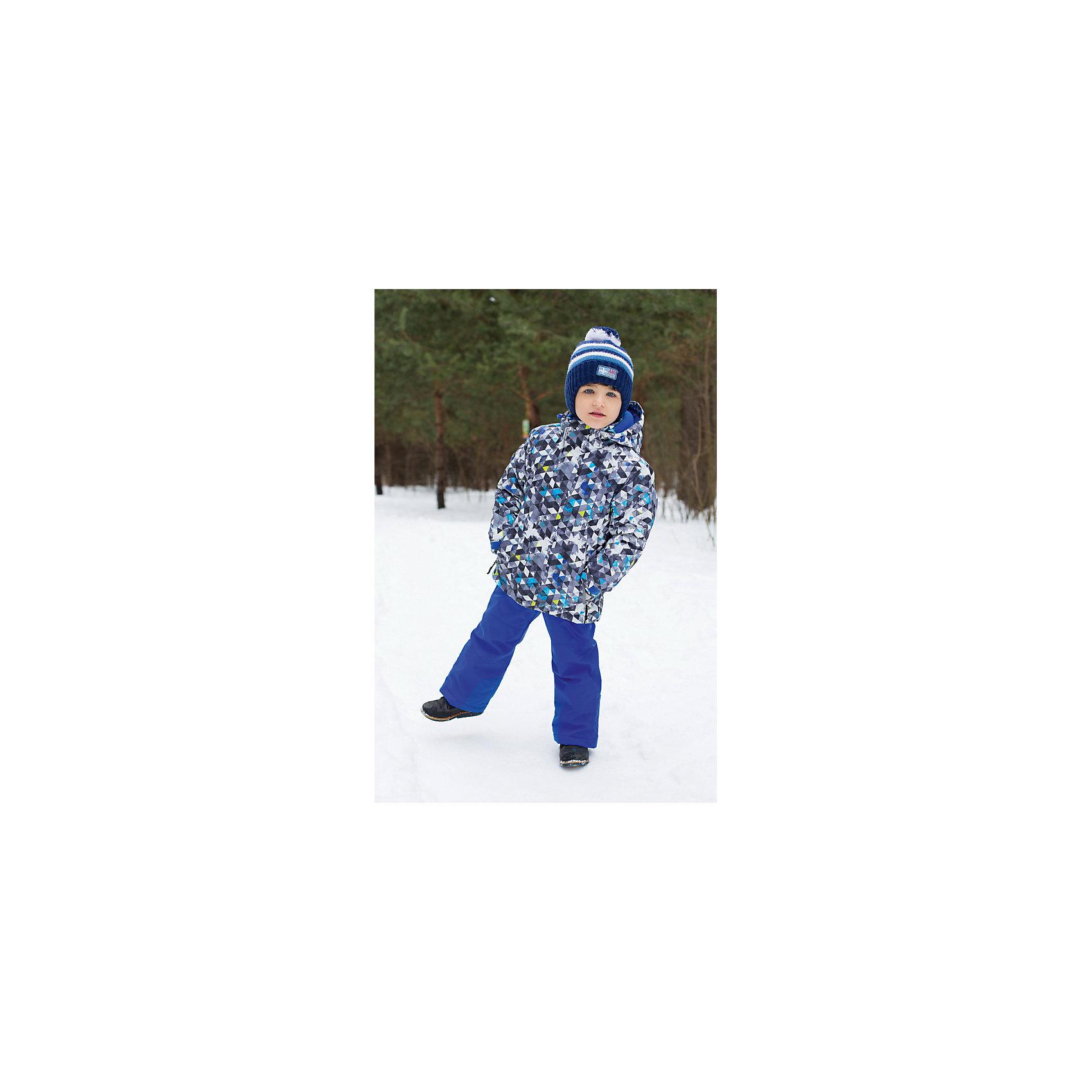 Комплект для мальчика: куртка и брюки Sweet BerryКомплект для мальчика: куртка и брюки от известного бренда Sweet Berry<br>Удобный, яркий комплект для мальчиков из  мембранной, водонепроницаемой (Waterproof - 10000мм), дышащей ( water vapor transmission rate, WVTR -10000гг) ткани с грязеотталкивающей пропиткой.Съемный капюшон на молнии регулируется резинкой со стоппером. Рукава с дополнительной манжетой с вырезом для пальца. Вставки из свето-отражающих кантов. Две ветрозащитные планки. Внутри подкладка из флиса,  внутренний карман и снегозащитная юбка. Брюки на регулируемых лямках. Внизу штанин имеются внутренние манжеты из подкладки на прорезиненной эластичной резинки.  Утеплитель 200гр.-тело, 180гр.-рукава, брюки.<br>Состав:<br>Верх: куртка: 100%полиэстер, Брюки: 100% нейлон.  Подкладка: 100%полиэстер. Наполнитель: 100%полиэстер<br><br>Ширина мм: 215<br>Глубина мм: 88<br>Высота мм: 191<br>Вес г: 336<br>Цвет: черный<br>Возраст от месяцев: 48<br>Возраст до месяцев: 60<br>Пол: Мужской<br>Возраст: Детский<br>Размер: 110,104,98,92,134,128,122,116<br>SKU: 4960130