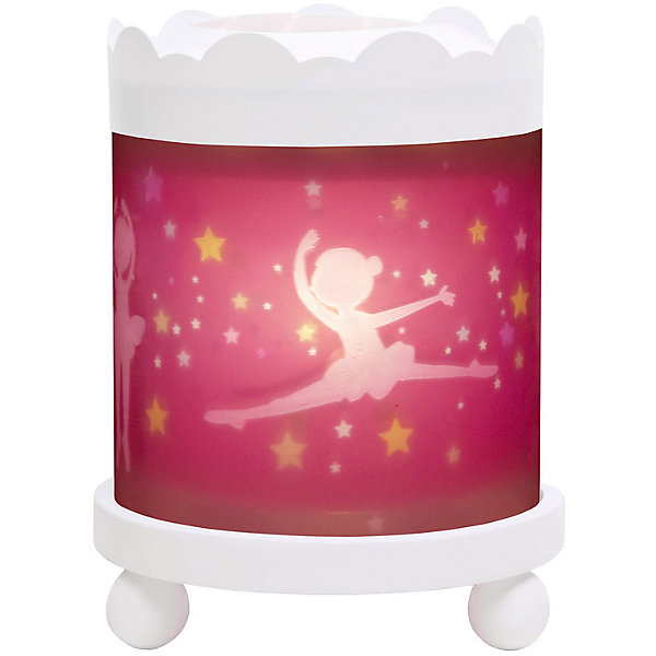 Светильник-ночник с функцией проектора Ballerina, TrousselierДетские предметы интерьера<br>Ночные страхи легко уходят из комнаты, в которой стоит ночник! С ночником любое помещение становится уютнее! Для детей это еще и повышение качества сна - с ночником они спят спокойнее, так как вокруг нет пугающей темноты.<br>Этот ночник выглядит очень красиво - на нем изображены симпатичные картинки, жароустойчивый цилиндр ночника вращается и создает приятное мягкое освещение вокруг него. Корпус ночника - прочный, металлический. Если его снять, то ночник будет работать как проектор и отправлять изображение героев на стены. Изделие произведено из высококачественных материалов, и соответствует европейским стандартам безопасности.<br><br>Дополнительная информация:<br><br>цвет: разноцветный;<br>материал: металл, жароустойчивый пластик, дерево;<br>работает от розетки;<br>внутри - лампочка 12 V 20 W;<br>вес: 800 г;<br>размер: 17 х 17 х 22 см.<br><br>Светильник-ночник с функцией проектора Ballerina от французской компании Trousselier можно купить в нашем магазине.<br><br>Ширина мм: 175<br>Глубина мм: 175<br>Высота мм: 260<br>Вес г: 930<br>Возраст от месяцев: 0<br>Возраст до месяцев: 216<br>Пол: Женский<br>Возраст: Детский<br>SKU: 4961813