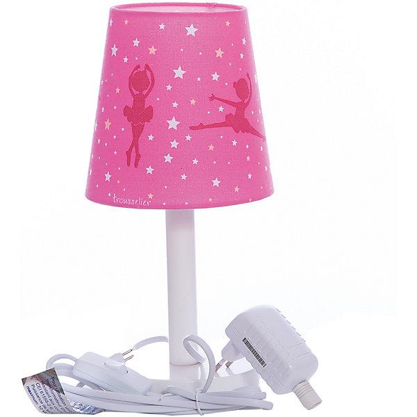 Лампа ночник 30 Cm Ballerina Pink, TrousselierДетские предметы интерьера<br>Ночники помогают создать уют в любом помещении. Для детей это еще и повышение качества сна - с ночником они спят спокойнее, так как вокруг нет пугающей темноты.<br>Этот ночник выглядит очень красиво - на нем симпатичная картинка, красивый абажур. Корпус ночника - прочный, из дерева и металла. Изделие произведено из высококачественных материалов, и соответствует европейским стандартам безопасности.<br><br>Дополнительная информация:<br><br>цвет: белый, розовый;<br>материал: металл, жароустойчивый пластик, дерево;<br>работает от розетки;<br>внутри - лампочка 12 V 20 W;<br>длина шнура: 1,8 метра;<br>размер: 15 х 15 х 30 см.<br><br><br>Лампу ночник 30 Cm Ballerina Pink от французской компании Trousselier можно купить в нашем магазине.<br><br>Ширина мм: 175<br>Глубина мм: 175<br>Высота мм: 260<br>Вес г: 730<br>Возраст от месяцев: 0<br>Возраст до месяцев: 216<br>Пол: Женский<br>Возраст: Детский<br>SKU: 4961822