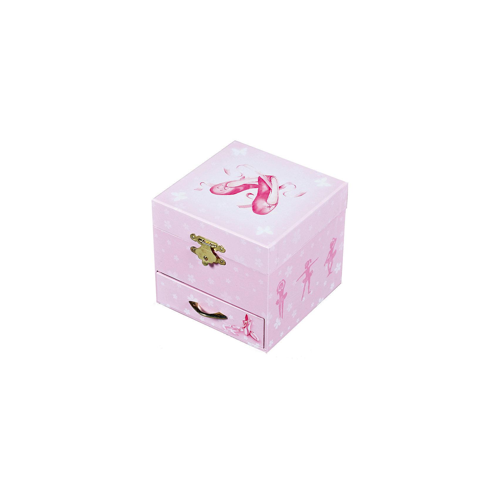 Музыкальная шкатулка Ballerina Shoes - Figurine Ballerina, Trousselier, Pink