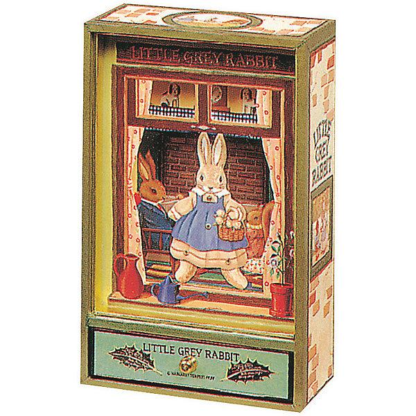 Музыкальная шкатулка Little Grey Rabbit© Rabbit, Trousselier, Grey/GreenДетские предметы интерьера<br>Какая девочка не мечтает о музыкальной шкатулке? Подарите девочке настоящую музыкальную шкатулку с заводным механизмом от французской компании Trousselier. Шкатулка проигрывает приятную мелодию.<br>Она выглядит очень красиво - на ней симпатичная картинка. Внутри шкатулки даже есть место для хранения разных мелочей и зеркальце. Изделие произведено из высококачественных материалов, и соответствует европейским стандартам безопасности.<br><br>Дополнительная информация:<br><br>цвет: разноцветный;<br>материал: дерево;<br>заводной механизм;<br>размер упаковки: 22 x 14 x 7 см.<br><br>Музыкальную шкатулку  Little Grey Rabbit© Rabbit от французской компании Trousselier можно купить в нашем магазине.<br><br>Ширина мм: 130<br>Глубина мм: 210<br>Высота мм: 70<br>Вес г: 760<br>Возраст от месяцев: 12<br>Возраст до месяцев: 216<br>Пол: Унисекс<br>Возраст: Детский<br>SKU: 4961844