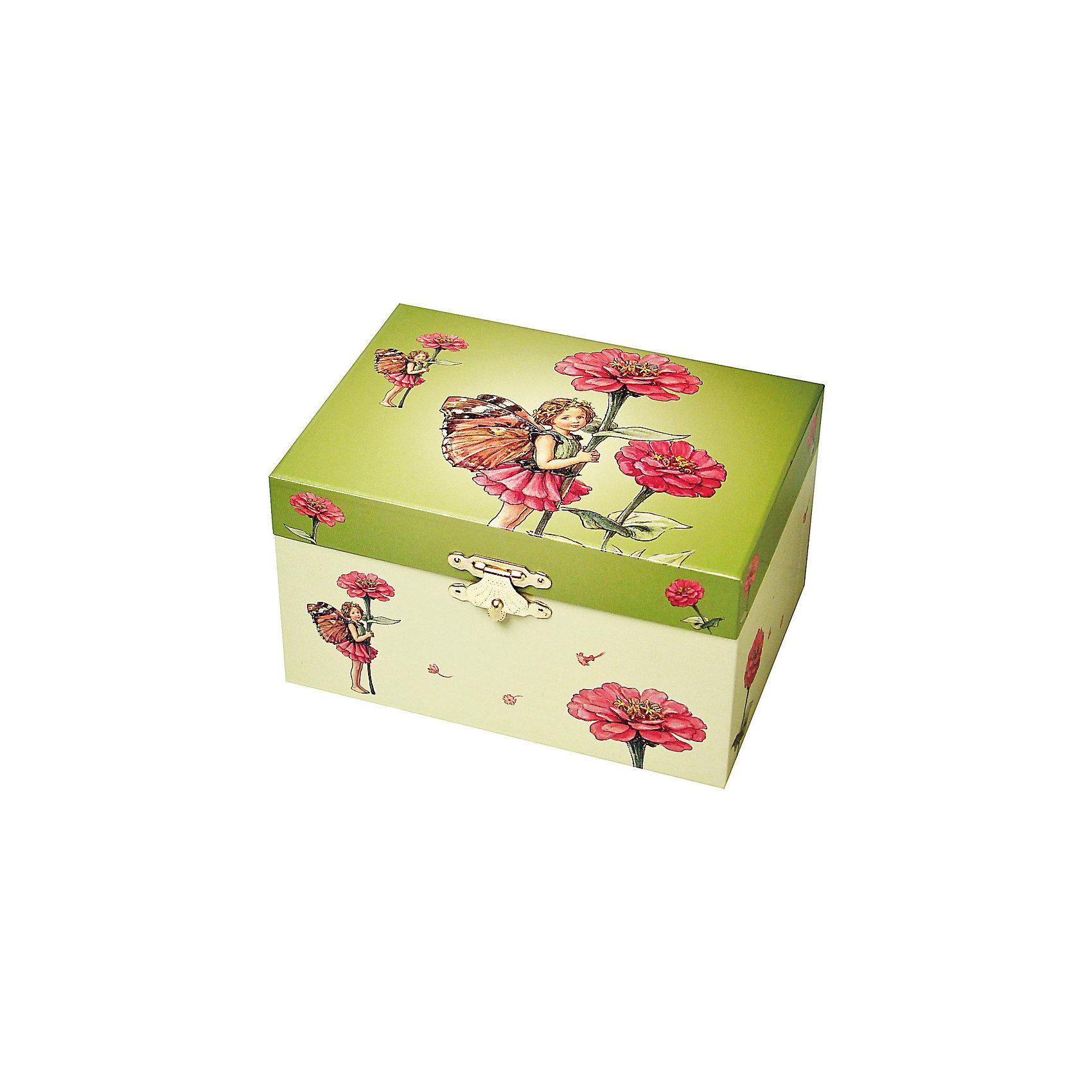 Музыкальная шкатулка Flower Fairies© Fairy, TrousselierМузыкальная шкатулка - это мечта множества девчонок. Подарите девочке настоящую музыкальную шкатулку с заводным механизмом от французской компании Trousselier. Шкатулка проигрывает приятную мелодию.<br>Она выглядит очень красиво - на ней симпатичная картинка. Внутри шкатулки -  фигурка балерины и даже есть место для хранения разных мелочей и зеркальце. Изделие произведено из высококачественных материалов, и соответствует европейским стандартам безопасности.<br><br>Дополнительная информация:<br><br>цвет: разноцветный;<br>материал: дерево;<br>внутри зеркало;<br>заводной механизм;<br>размер: 11 х 11 х 9 см.<br><br>Музыкальную шкатулку Flower Fairies© Fairy от французской компании Trousselier можно купить в нашем магазине.<br><br>Ширина мм: 150<br>Глубина мм: 80<br>Высота мм: 105<br>Вес г: 760<br>Возраст от месяцев: 12<br>Возраст до месяцев: 216<br>Пол: Женский<br>Возраст: Детский<br>SKU: 4961847