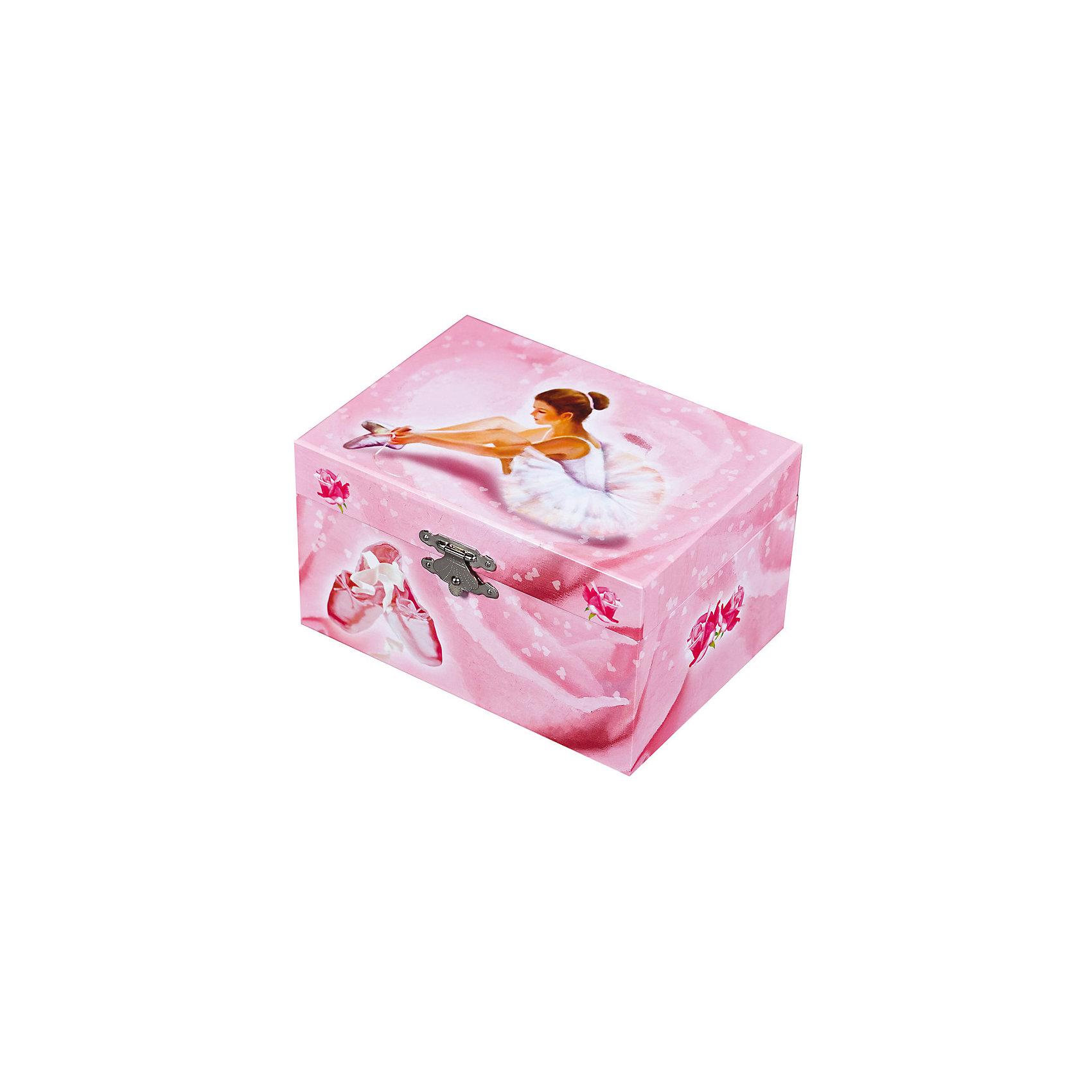 Музыкальная шкатулка Балерина Ballerina, Trousselier, pinkКакая девочка не мечтает о музыкальной шкатулке? Подарите девочке настоящую музыкальную шкатулку с заводным механизмом от французской компании Trousselier. Шкатулка проигрывает приятную мелодию.<br>Она выглядит очень красиво - на ней симпатичная картинка. Внутри шкатулки даже есть место для хранения разных мелочей и зеркальце. Изделие произведено из высококачественных материалов, и соответствует европейским стандартам безопасности.<br><br>Дополнительная информация:<br><br>цвет: разноцветный;<br>материал: дерево;<br>заводной механизм;<br>размер упаковки: 15 x 12 x 9 см.<br><br>Музыкальную шкатулку Балерина Ballerina от французской компании Trousselier можно купить в нашем магазине.<br><br>Ширина мм: 150<br>Глубина мм: 80<br>Высота мм: 105<br>Вес г: 760<br>Возраст от месяцев: 12<br>Возраст до месяцев: 216<br>Пол: Женский<br>Возраст: Детский<br>SKU: 4961849
