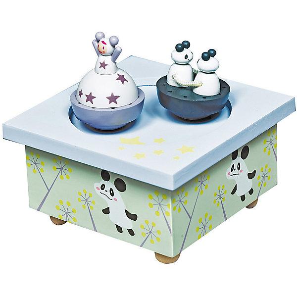 Музыкальная шкатулка Девочка и панда&#13;, TrousselierДетские предметы интерьера<br>Музыкальная шкатулка Девочка и панда&#13;, Trousselier<br><br>ВНИМАНИЕ! Шкатулка предназначена для декора комнаты, она не открывается и хранить в ней разные мелочи и бижутерию невозможно.<br><br>Музыкальная шкатулка - это мечта множества девчонок. Подарите девочке настоящую музыкальную шкатулку с заводным механизмом от французской компании Trousselier. Шкатулка проигрывает приятную мелодию, заводится с помощью ключика.<br>Она выглядит очень красиво - на ней симпатичные фигурки, которые кружатся при проигрывании мелодии. Шкатулка упакована в подарочную коробку производителя. Изделие произведено из высококачественных материалов, и соответствует европейским стандартам безопасности.<br><br>Дополнительная информация:<br><br>цвет: разноцветный;<br>материал: дерево;<br>подарочная упаковка;<br>заводной механизм;<br>размер: 11 х 11 х 7 см.<br><br>Музыкальную шкатулку Девочка и панда от французской компании Trousselier можно купить в нашем магазине.<br><br>Ширина мм: 114<br>Глубина мм: 114<br>Высота мм: 70<br>Вес г: 290<br>Возраст от месяцев: 12<br>Возраст до месяцев: 216<br>Пол: Женский<br>Возраст: Детский<br>SKU: 4961870