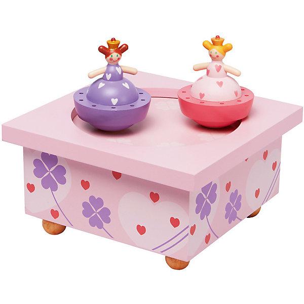 Музыкальная шкатулка Принцесса и лягушка&#13;, TrousselierДетские предметы интерьера<br>Музыкальная шкатулка Принцесса и лягушка&#13;, Trousselier<br><br>ВНИМАНИЕ! Шкатулка предназначена для декора комнаты, она не открывается и хранить в ней разные мелочи и бижутерию невозможно.<br><br>Музыкальная шкатулка - это мечта множества девчонок. Подарите девочке настоящую музыкальную шкатулку с заводным механизмом от французской компании Trousselier. Шкатулка проигрывает приятную мелодию, заводится с помощью ключика.<br>Она выглядит очень красиво - на ней симпатичные фигурки, которые кружатся при проигрывании мелодии. Шкатулка упакована в подарочную коробку производителя. Изделие произведено из высококачественных материалов, и соответствует европейским стандартам безопасности.<br><br>Дополнительная информация:<br><br>цвет: разноцветный;<br>материал: дерево;<br>подарочная упаковка;<br>заводной механизм;<br>размер: 11 х 11 х 7 см.<br><br>Музыкальную шкатулку Принцесса и лягушка от французской компании Trousselier можно купить в нашем магазине.<br>Ширина мм: 114; Глубина мм: 114; Высота мм: 70; Вес г: 290; Возраст от месяцев: 12; Возраст до месяцев: 216; Пол: Женский; Возраст: Детский; SKU: 4961871;
