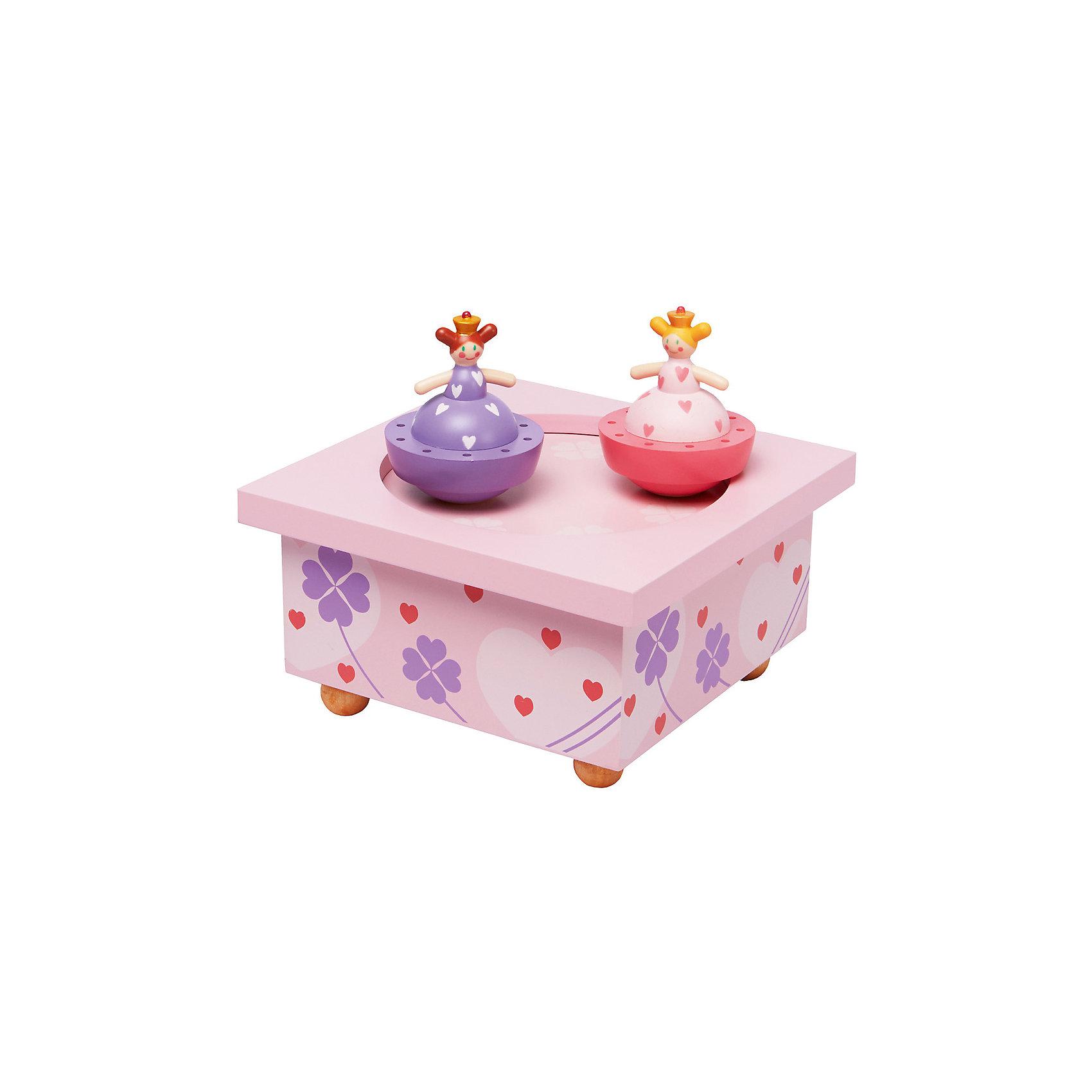 Музыкальная шкатулка Принцесса и лягушка&#13;, TrousselierПредметы интерьера<br>Музыкальная шкатулка Принцесса и лягушка&#13;, Trousselier<br><br>ВНИМАНИЕ! Шкатулка предназначена для декора комнаты, она не открывается и хранить в ней разные мелочи и бижутерию невозможно.<br><br>Музыкальная шкатулка - это мечта множества девчонок. Подарите девочке настоящую музыкальную шкатулку с заводным механизмом от французской компании Trousselier. Шкатулка проигрывает приятную мелодию, заводится с помощью ключика.<br>Она выглядит очень красиво - на ней симпатичные фигурки, которые кружатся при проигрывании мелодии. Шкатулка упакована в подарочную коробку производителя. Изделие произведено из высококачественных материалов, и соответствует европейским стандартам безопасности.<br><br>Дополнительная информация:<br><br>цвет: разноцветный;<br>материал: дерево;<br>подарочная упаковка;<br>заводной механизм;<br>размер: 11 х 11 х 7 см.<br><br>Музыкальную шкатулку Принцесса и лягушка от французской компании Trousselier можно купить в нашем магазине.<br><br>Ширина мм: 114<br>Глубина мм: 114<br>Высота мм: 70<br>Вес г: 290<br>Возраст от месяцев: 12<br>Возраст до месяцев: 216<br>Пол: Женский<br>Возраст: Детский<br>SKU: 4961871