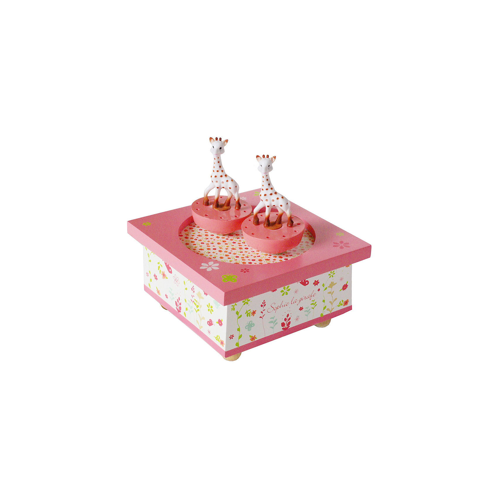Музыкальная шкатулка Sophie The Giraffe©, TrousselierПредметы интерьера<br>Музыкальная шкатулка Sophie The Giraffe©, Trousselier<br><br>ВНИМАНИЕ! Шкатулка предназначена для декора комнаты, она не открывается и хранить в ней разные мелочи и бижутерию невозможно.<br><br>Какая девочка не мечтает о музыкальной шкатулке? Подарите девочке настоящую музыкальную шкатулку с заводным механизмом от французской компании Trousselier. Шкатулка проигрывает приятную мелодию, заводится с помощью ключика.<br>Она выглядит очень красиво - на ней симпатичные фигурки, которые кружатся при проигрывании мелодии. Шкатулка упакована в подарочную коробку производителя. Изделие произведено из высококачественных материалов, и соответствует европейским стандартам безопасности.<br><br>Дополнительная информация:<br><br>цвет: разноцветный;<br>материал: дерево;<br>подарочная упаковка;<br>заводной механизм;<br>размер: 11 х 11 х 7 см.<br><br>Музыкальную шкатулку Sophie The Giraffe© от французской компании Trousselier можно купить в нашем магазине.<br><br>Ширина мм: 114<br>Глубина мм: 114<br>Высота мм: 70<br>Вес г: 290<br>Возраст от месяцев: 12<br>Возраст до месяцев: 216<br>Пол: Женский<br>Возраст: Детский<br>SKU: 4961874