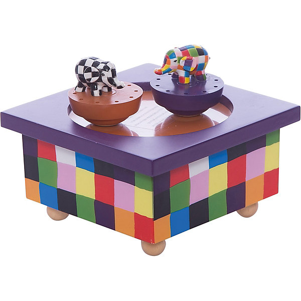 Музыкальная шкатулка Elmer©, TrousselierДетские предметы интерьера<br>Музыкальная шкатулка Elmer©, Trousselier<br><br>ВНИМАНИЕ! Шкатулка предназначена для декора комнаты, она не открывается и хранить в ней разные мелочи и бижутерию невозможно.<br><br>Музыкальная шкатулка - это мечта множества девчонок. Подарите девочке настоящую музыкальную шкатулку с заводным механизмом от французской компании Trousselier. Шкатулка проигрывает приятную мелодию, заводится с помощью ключика.<br>Она выглядит очень красиво - на ней симпатичные фигурки, которые кружатся при проигрывании мелодии. Шкатулка упакована в подарочную коробку производителя. Изделие произведено из высококачественных материалов, и соответствует европейским стандартам безопасности.<br><br>Дополнительная информация:<br><br>цвет: разноцветный;<br>материал: дерево;<br>подарочная упаковка;<br>заводной механизм;<br>размер: 11 х 11 х 7 см.<br><br>Музыкальную шкатулку Elmer© от французской компании Trousselier можно купить в нашем магазине.<br><br>Ширина мм: 114<br>Глубина мм: 114<br>Высота мм: 70<br>Вес г: 380<br>Возраст от месяцев: 12<br>Возраст до месяцев: 216<br>Пол: Унисекс<br>Возраст: Детский<br>SKU: 4961875