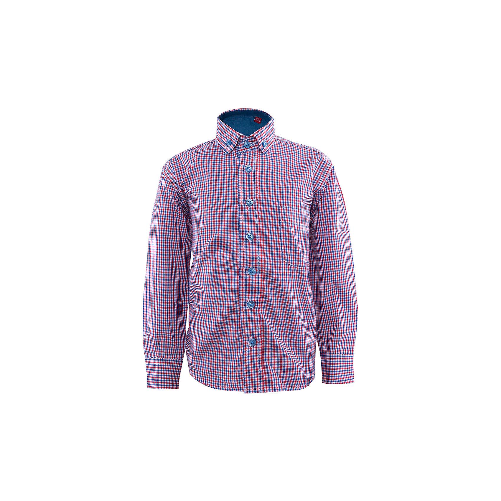 Рубашка для мальчика ImperatorБлузки и рубашки<br>Рубашка для мальчика от известного бренда Imperator.<br><br>Классическая рубашка - неотьемлемая вещь в гардеробе, даже для самых юных богатырей! Модель на пуговицах, с отложным воротником. Свободный покрой не стеснит движений и позволит чувствовать себя комфортно каждый день. <br><br>Состав:<br>65 % хлопок, 35% П/Э<br><br>Ширина мм: 174<br>Глубина мм: 10<br>Высота мм: 169<br>Вес г: 157<br>Цвет: разноцветный<br>Возраст от месяцев: 48<br>Возраст до месяцев: 60<br>Пол: Мужской<br>Возраст: Детский<br>Размер: 104/110,98/104,110/116,116/122,92/98<br>SKU: 4963319