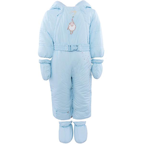 Комбинезон-трансформер для мальчика АртельКонверты<br>Комбинезон-трансформер для мальчика от известного бренда Артель<br>Комбинезон-трансформер - это отличный вариант одежды для прогулок в холодное время года. Он выполняет функцию полноценного костюма с ножками, в котором удобно носить ребенка на руках, или перевозить в автокресле и теплого уютного спального конверта, в котором ребенку комфортно находиться в коляске. Комбинезон трансформируется в конверт с помощью дополнительных молний. Данная модель комплектуется пинетками и варежками. Глубокий капюшон плотно прилегает к лицу, за счет мягкого трикотажного подвяза. По линии талии есть пояс с декоративной пряжкой, на груди - вышивка в виде барашка.<br>Состав:<br>Верх:Dewspo FD<br>Подкладка: интерлок<br>Утеплитель: термофайбер 200г<br>Ширина мм: 356; Глубина мм: 10; Высота мм: 245; Вес г: 519; Цвет: голубой; Возраст от месяцев: 6; Возраст до месяцев: 9; Пол: Мужской; Возраст: Детский; Размер: 74,62,68; SKU: 4963431;