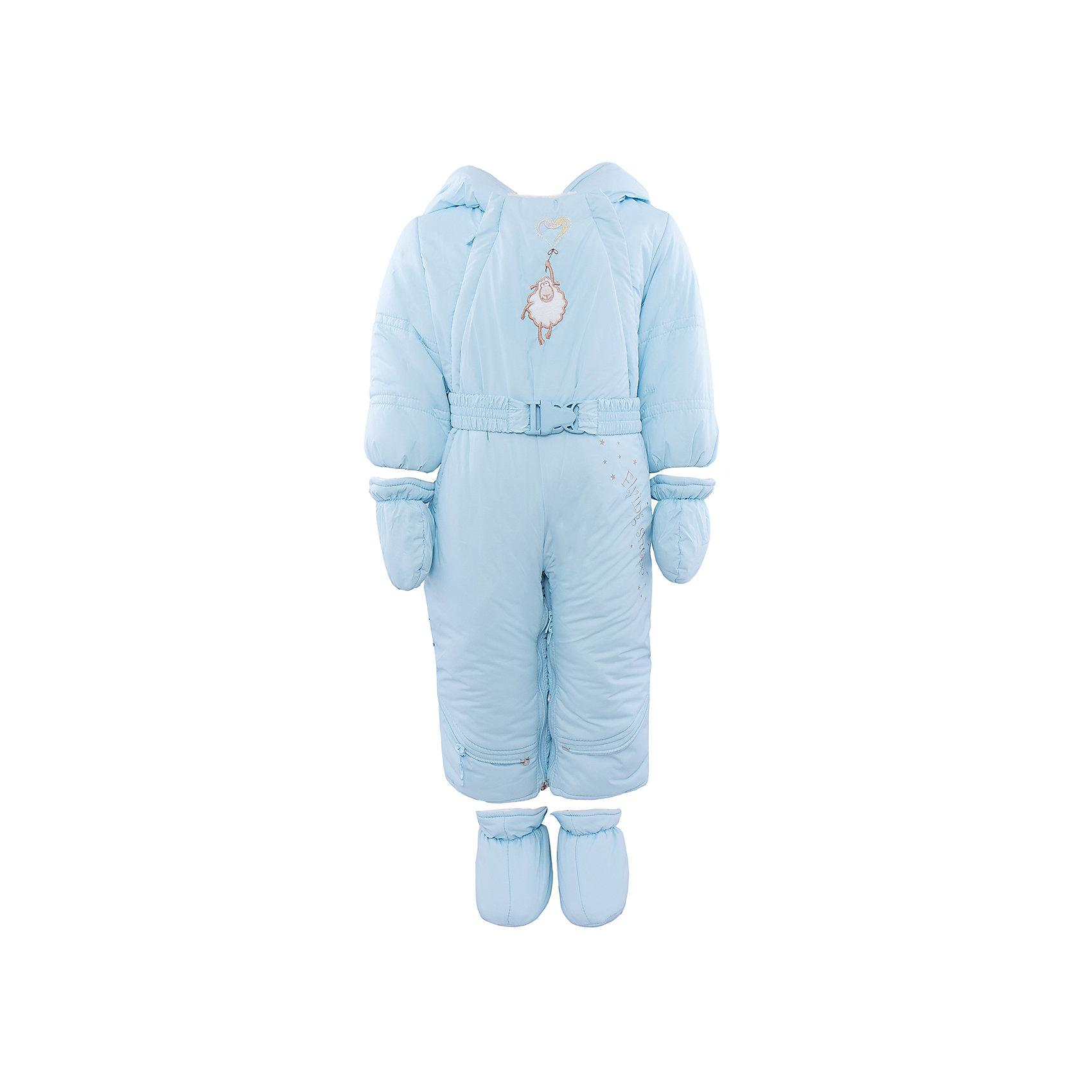 Комбинезон-трансформер для мальчика АртельКомбинезон-трансформер для мальчика от известного бренда Артель<br>Комбинезон-трансформер - это отличный вариант одежды для прогулок в холодное время года. Он выполняет функцию полноценного костюма с ножками, в котором удобно носить ребенка на руках, или перевозить в автокресле и теплого уютного спального конверта, в котором ребенку комфортно находиться в коляске. Комбинезон трансформируется в конверт с помощью дополнительных молний. Данная модель комплектуется пинетками и варежками. Глубокий капюшон плотно прилегает к лицу, за счет мягкого трикотажного подвяза. По линии талии есть пояс с декоративной пряжкой, на груди - вышивка в виде барашка.<br>Состав:<br>Верх:Dewspo FD<br>Подкладка: интерлок<br>Утеплитель: термофайбер 200г<br><br>Ширина мм: 356<br>Глубина мм: 10<br>Высота мм: 245<br>Вес г: 519<br>Цвет: голубой<br>Возраст от месяцев: 2<br>Возраст до месяцев: 5<br>Пол: Мужской<br>Возраст: Детский<br>Размер: 62,74,68<br>SKU: 4963431