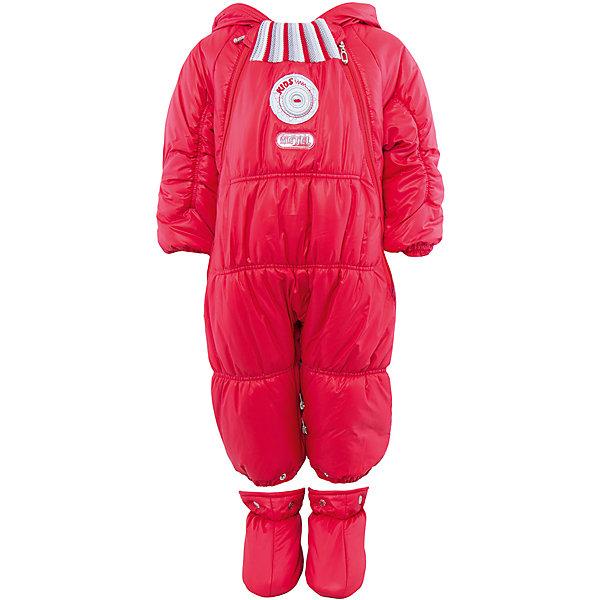 Комбинезон-трансформер АртельВерхняя одежда<br>Комбинезон-трансформер от известного бренда Артель<br>Комбинезон-трансформер - это отличный вариант одежды для прогулок в холодное время года. Он выполняет функцию полноценного костюма с ножками, в котором удобно носить ребенка на руках, или перевозить в автокресле и теплого уютного спального конверта, в котором ребенку комфортно находиться в коляске. Комбинезон трансформируется в конверт с помощью дополнительных молний. <br>Состав:<br>Верх: YSD 819<br>Подкладка: интерлок<br>Утеплитель: термофайбер 200гр<br><br>Ширина мм: 356<br>Глубина мм: 10<br>Высота мм: 245<br>Вес г: 519<br>Цвет: красный<br>Возраст от месяцев: 2<br>Возраст до месяцев: 5<br>Пол: Женский<br>Возраст: Детский<br>Размер: 62,74,68<br>SKU: 4963477