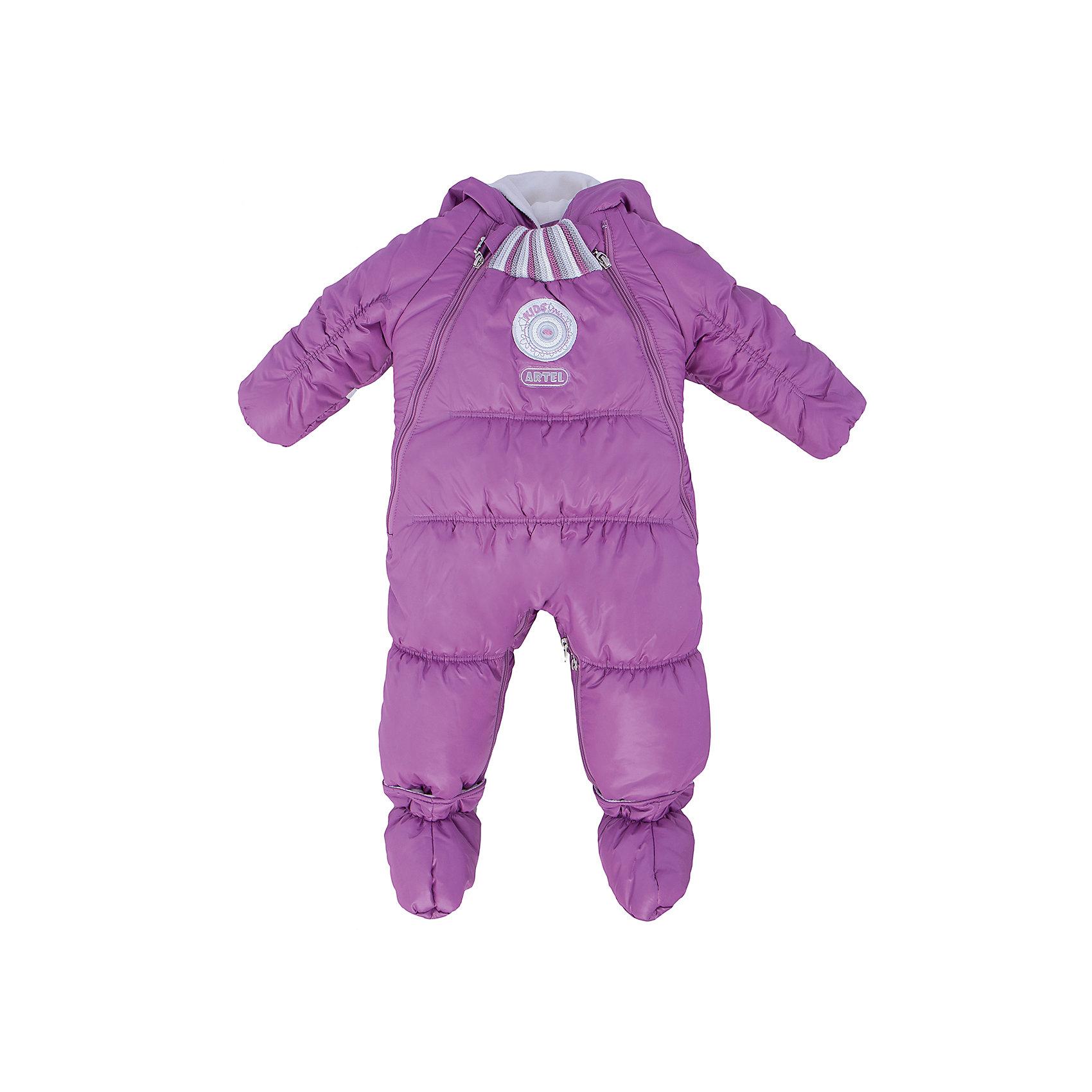 Комбинезон-трансформер АртельКонверты<br>Комбинезон-трансформер от известного бренда Артель<br>Комбинезон-трансформер - это отличный вариант одежды для прогулок в холодное время года. Он выполняет функцию полноценного костюма с ножками, в котором удобно носить ребенка на руках, или перевозить в автокресле и теплого уютного спального конверта, в котором ребенку комфортно находиться в коляске. Комбинезон трансформируется в конверт с помощью дополнительных молний. <br>Состав:<br>Верх: YSD 819<br>Подкладка: интерлок<br>Утеплитель: термофайбер 200гр<br><br>Ширина мм: 356<br>Глубина мм: 10<br>Высота мм: 245<br>Вес г: 519<br>Цвет: розовый<br>Возраст от месяцев: 3<br>Возраст до месяцев: 6<br>Пол: Женский<br>Возраст: Детский<br>Размер: 68,74,62<br>SKU: 4963485